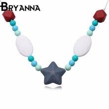 Bryanna новые ювелирные изделия оптовая Classic силиконовый кулон ожерелья для женщин в богемном стиле звезда ожерелье H819