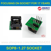 SOP8 to DIP8 Socket SOP8 socket Pitch 1.27mm IC Body Width 3.9mm 150mil IC Test Adapter EZ CH341A CH341 Programer
