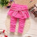2016 Del Otoño Del Resorte Nuevo Bebé niñas pantalones de algodón niza polainas infantiles rosa azul marino color B107