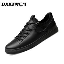 DXKZMCM Men Casual Shoes Split Leather Men's Flats Handmade Mens Loafers Fashion Designer Sneakers
