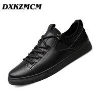 DXKZMCM Men Casual Shoes Split Leather Men S Flats Handmade Mens Loafers Fashion Designer Sneakers