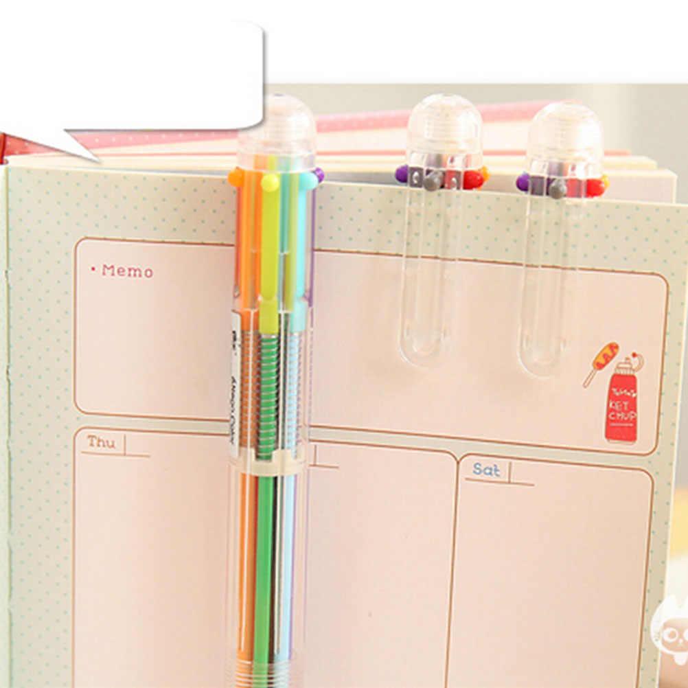 2016 1 x kreatif 6 in 1 Bolpoin multi-warna Push Jenis Pena Alat Tulis Bahan Canetas Escolar Sekolah persediaan