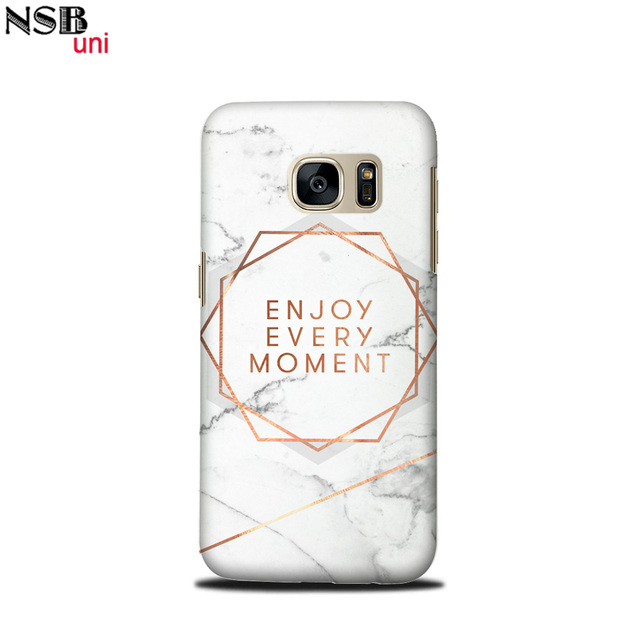 5e82b63940 Brand NSBuni Unique Mobile Shells for Samsung Galaxy S7 With Awesome Marble  Quotes Designs By Sublimation Process Free Shipping