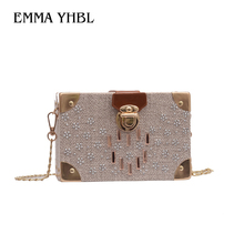 EMMA YHBL  2019 summer womens bag single shoulder lock nylon fabric is versatile with trend cross-body box
