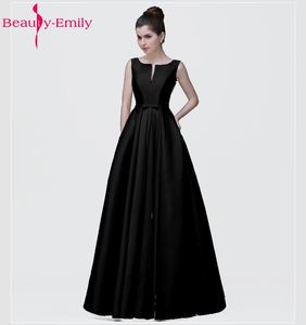 Image 3 - Женское вечернее платье с вырезом лодочкой, розовое или черное ТРАПЕЦИЕВИДНОЕ ПЛАТЬЕ до пола, со шнуровкой, для вечевечерние НКИ, 2020