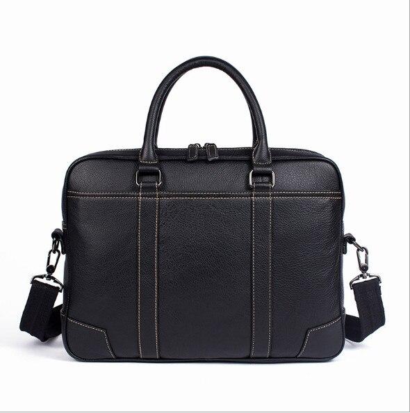 2018 Genuine leather men s cross section business men s handbag briefcase shoulder messenger bag