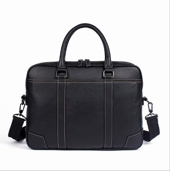 2018 Genuine leather men's cross-section business men's handbag briefcase shoulder messenger bag недорго, оригинальная цена