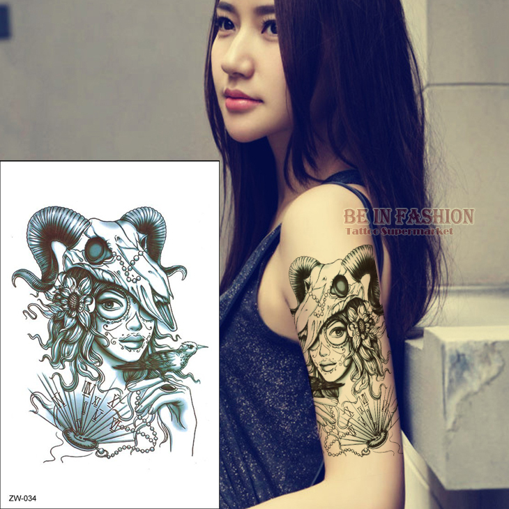 Aliexpress.com : Buy one piece trendy flower arm tattoo stickers temporary tatoo men women