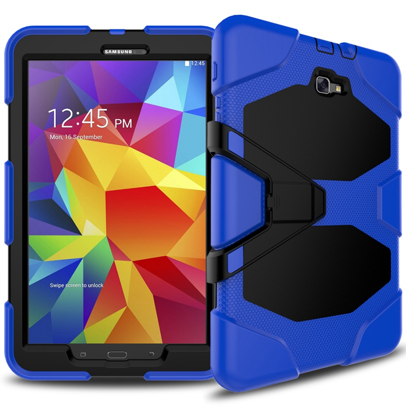 Shockproof Impact Heavy Duty Hybrid Rugged Rubber Hard Case with Kickstand For Samsung Galaxy Tab A 10.1 2016 T580 T585 coque tire style tough rugged dual layer hybrid hard kickstand duty armor case for samsung galaxy tab a 10 1 2016 t580 tablet cover