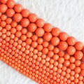 Мода природных reddish orange coral новый 2 мм 3 мм 4 мм 6 мм 8 мм горячие продажа круглый loose бисер diy Ювелирных Изделий 15 дюймов B652