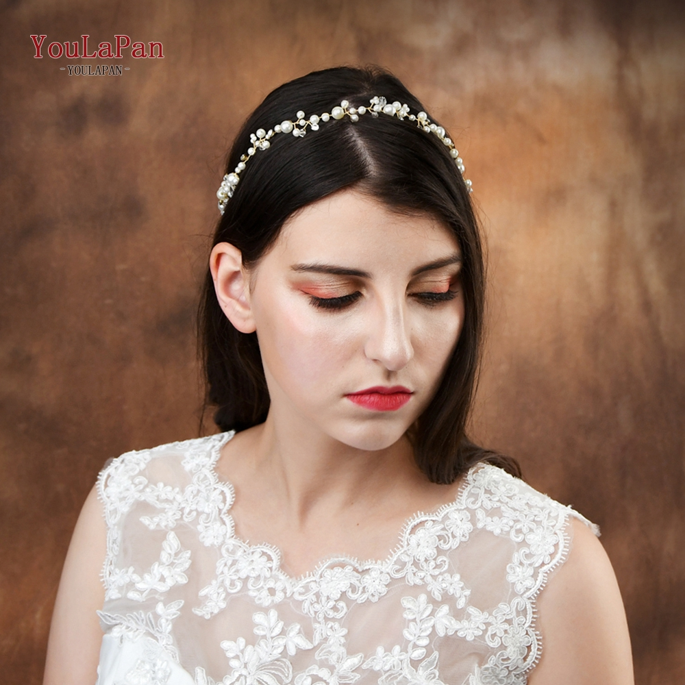 YouLaPan HP03 Bridal Tiara Bridal Headband Wedding Pearl Bridal Wedding Hair Accessories Wedding Hair Jewelry Wedding Hairband
