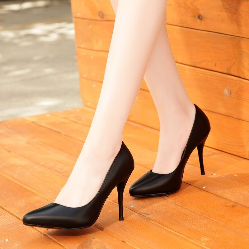Online Buy Wholesale black women wearing high heels from China