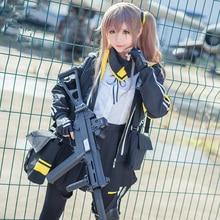 Sıcak oyun kızlar Frontline Ump45 Ump9 Cosplay kostüm savaş üniforma tam Set noel için