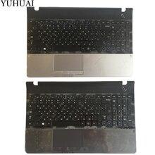 Новый для Samsung NP300E5A NP305E5C NP300e5x NP305E5A 300E5A 300E5C 300E5Z Русский RU Клавиатура ноутбука с случае Упор для рук Touchpad