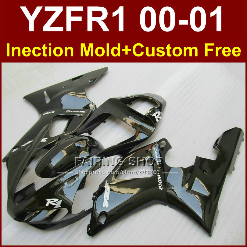 100% injection mold motorcycle fairings for yzf r1 00 01 yzfr1 fairings kit  2000 2001 yzf 1000 exup