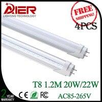 4pcs 1200mm T8 Led Tube Lighting 18Watt With High Bright 96pcs SMD2835 Free Shipping By Fedex
