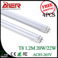 4pcs 1200mm t8 led tube lighting 20/22Watt with high bright 96/120pcs SMD2835 free shipping by fedex