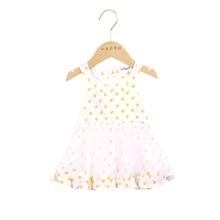 Baby Dress 2019 Summer New Girls Children's  Love Heart Design Cotton Striped Cartoon Strap Kids Princess Dresses 0-2Years
