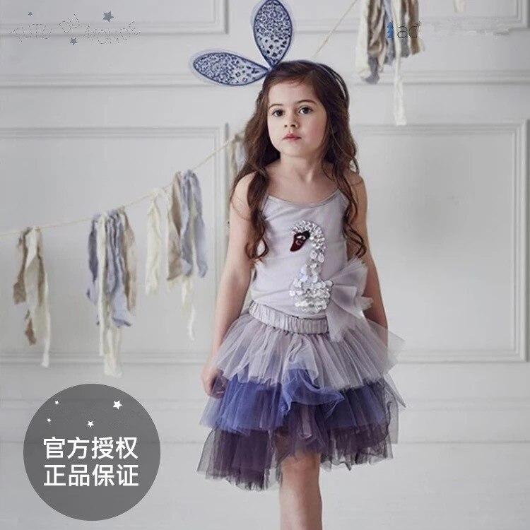 2018 summer spring kid tutu skirts kids goose t shirts girls clothing summer children clothing girls dress