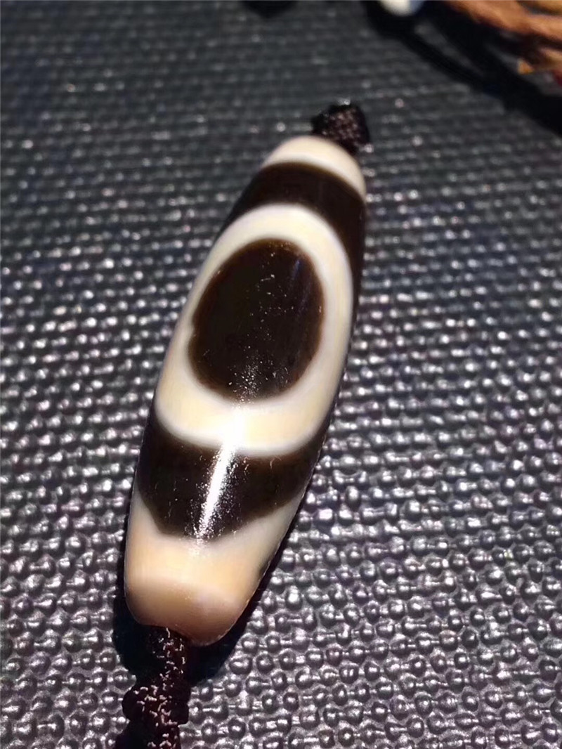 Здесь можно купить  181005-3 1 Eye 11mm*38mmTibetan Dzi Beads Stone Powerful Amulet for Necklace bracelet pendant High Quality free shipping  Ювелирные изделия и часы