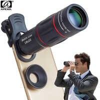 Lente de cámara APEXEL 18X telescopio Zoom telescopio lente de teléfono móvil con clips Universal para iPhone Xiaomi Smartphones APL-18XT
