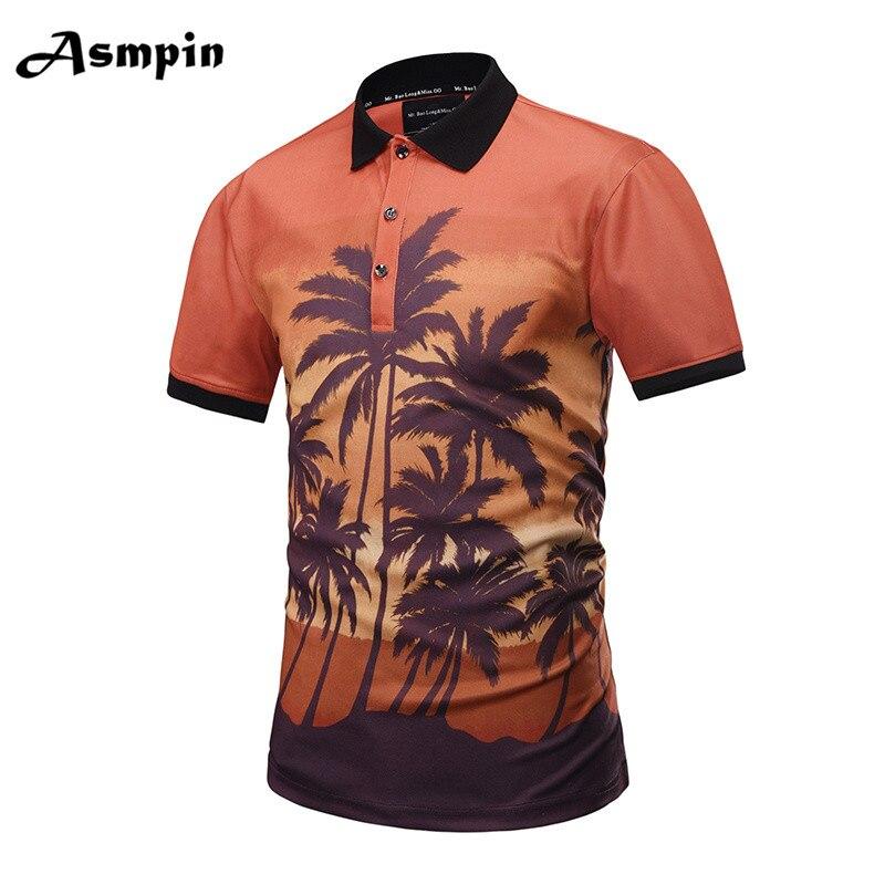 زائد الحجم 2018 ماركة بولو قميص الرجال 3d - ملابس رجالية