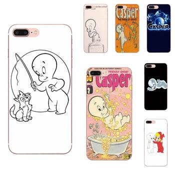 Ultra Thin Cartoon Pattern Back Phone Case For Apple iPhone 4 4S 5 5C 5S SE 6 6S 7 8 Plus X XS Max XR Casper & Friends image
