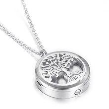 Дерево жизни Выход Кондиционер духи медальон также кулон кремационной урны ожерелье для праха памятные ювелирные изделия для домашних животных/человека
