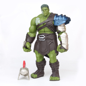 Image 2 - 18/35cm Big Size Avengers Marvel Thor 3 Ragnarok Hands Moveable War Hammer Battle Axe Gladiator Hulk BJD Action Figure Model Toy