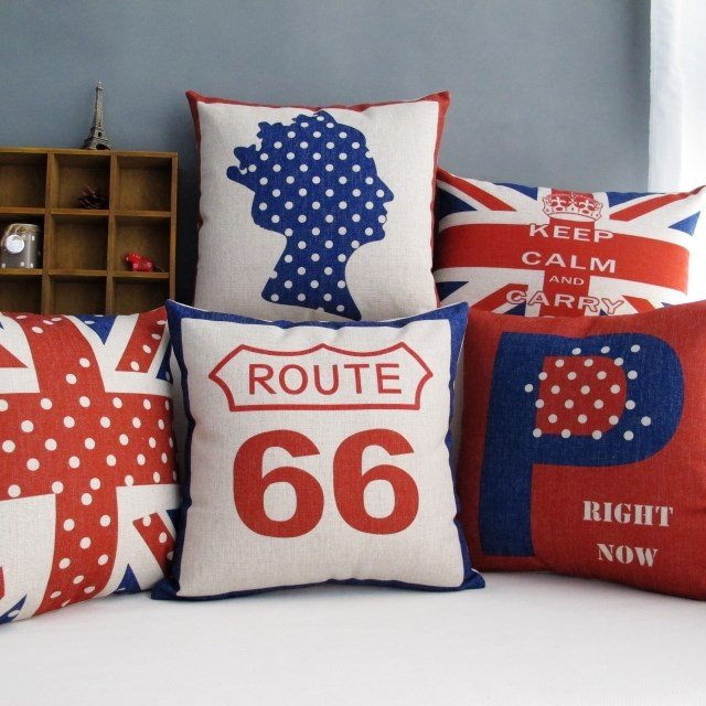 UK Union Jack Flag Queen Crown Cushion Covers British London Route