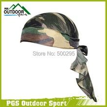 كرة الطلاء Airsoft مسدس هواء غطاء الرأس الزيتون الغابات كامو رئيس التفاف عقال