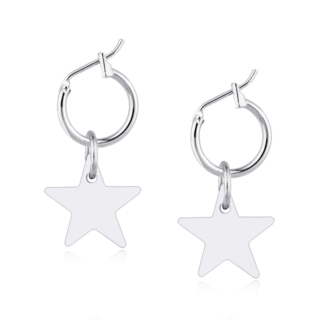 1pair Ethnic Gold Silver Color Star Hoop Earrings For Women Endless Circle Earring Hoops Vintage Earing