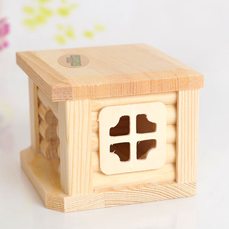 Mini Small Pet Wooden House CageWinter Windproof and Warm Nest Cave for Mouse Hamster Squirrel Baby Case Animals Accessories2