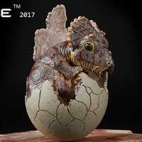 2017 neue EDAGE Simulierte dinosaurier tier modell 1:35 Harz Geboren Triceratops cub Kinderspielzeug