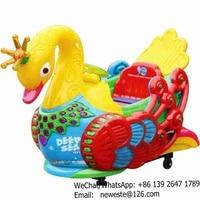 Peacock Indoor Amusement Park Plastic Funfair Kids Rides For Sale