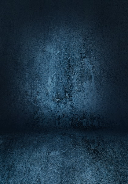 8x12ft Indoor Dark Steel Blue Cracks Wall Distressed