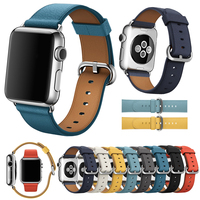 LEONIDAS Genuine Leather Classic Buckle For Apple Watch Replacement Classic Buckle Watch Band For Apple Watch