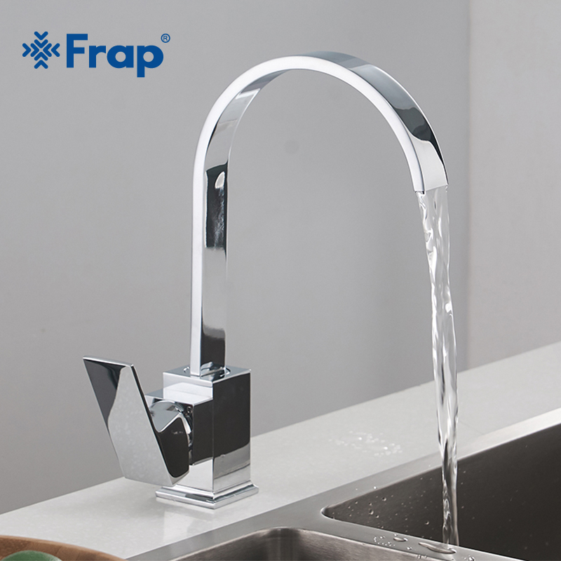 Frap New Arrival Kitchen Faucets Brass Kitchen Sink Water Faucet Cold and Hot Water Single Hole Water Tap Brass mixer Y40063 frud new arrival kitchen faucet mixer double handle single hole sink faucet mixer cold and hot water kitchen tap mixer r40112