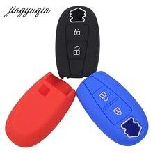 jingyuqin Silicone Cover Smart Key Case For Suzuki Swift Kizashi SX4 S-Cross Car Keyless Fob Set Skin Holder Protection
