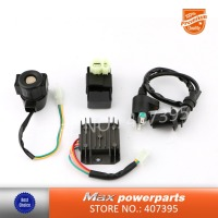 Ignition Rebuild Kit CDI Solenoid 4 Pins Relay Voltage Regulator For GY6 50cc 125cc 150cc ATV