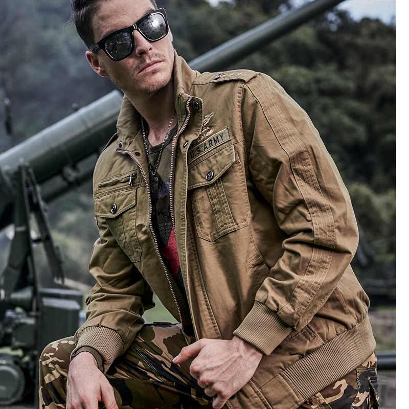 69fe1ee0ece12 ... New 2018 Autumn Winter Military tactical Pilot Jacket Men Cotton Bomber Jacket  Plus Size 6XL Casual ...