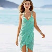 Vestido de playa mujer sexy playa cubrir traje de baño transpirable pareo verano ropa de playa sexy mujer bikini cubrir arriba playa vestido