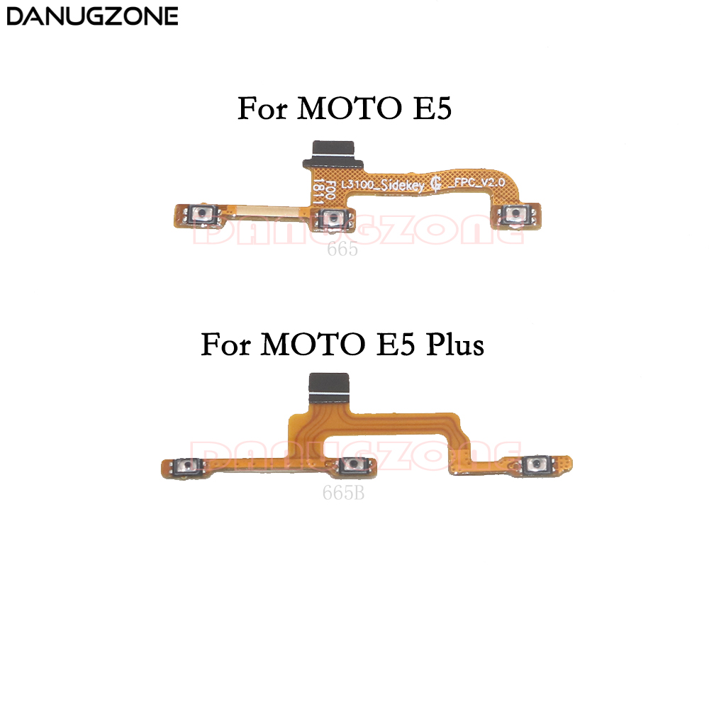 Power Button Switch Volume Button Mute On / Off Flex Cable For Motorola MOTO E5 / E5 Plus XT1924-9