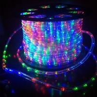 EU Plug LED Light Strip Outdoor neon lights decoration PVC Round 2 wire Square Garden Waterproof strip Christmas flashing lights|LED Strips| |  -