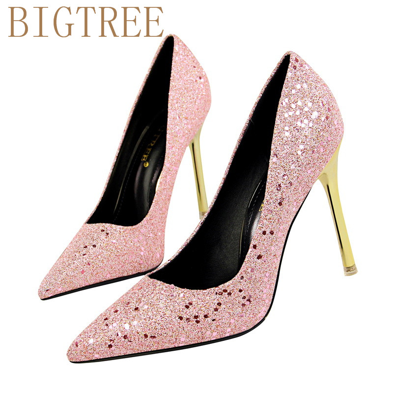 Compare Prices on Shiny Gold Heels- Online Shopping/Buy Low Price ...