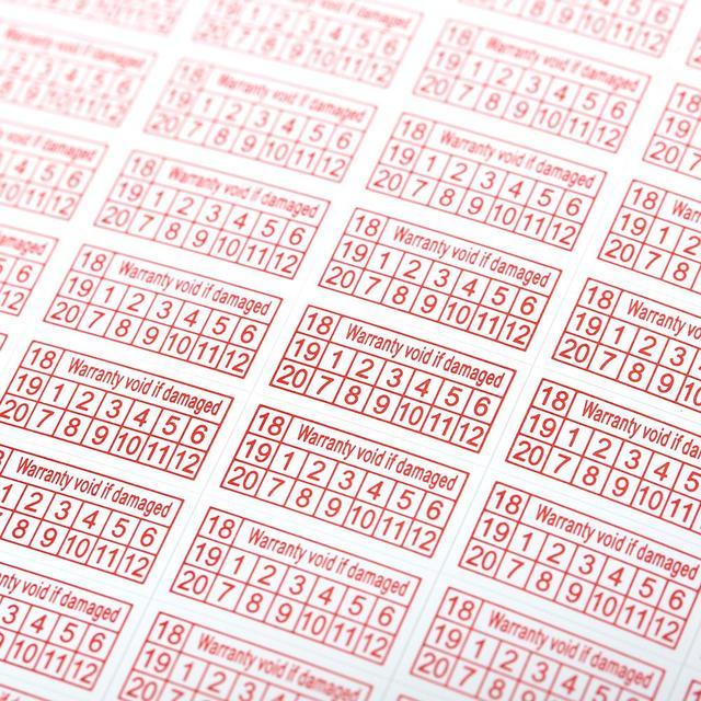 200 piezas garantía nula si se pegatina roja año Color rectángulo forma frágil etiqueta pegatinas