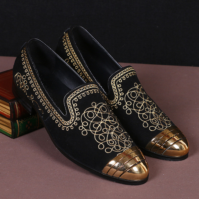 Designers Zapatos Slipon as As Show De Bordados Homens Espadrille Dos Flats Moda Show Nova Cuero Nubuck Brogue Dedo Plus Pé Do Sapatos Couro Redondo Hombre qxZg1Ewa