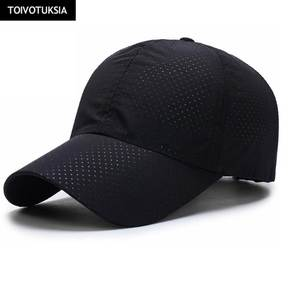 e1e4b2b0892 Running Caps Mesh Snapback Mens Summer Outdoor Sport Mesh Black White Hat  Running Visor Cap