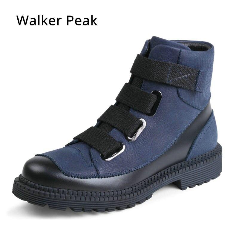 אופנה גברים נעלי חורף, עור מקורי חורף - נעלי גברים
