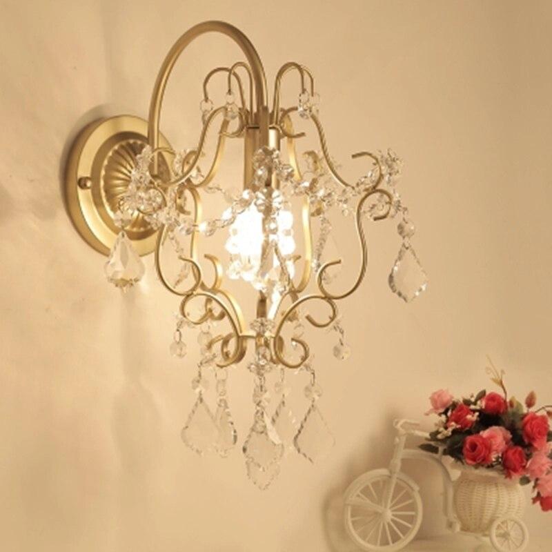 Lâmpadas de Parede de cristal moderna K9 Novidade arandelas de parede que vivem fundo quarto luminárias corredor Parede de cabeceira quarto Lâmpadas